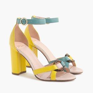 J Crew Stella heels colorblock leather tortoise